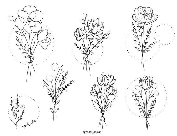 """Cndrll💍 trên Instagram: """"Wanna Do Part 3 ❤ Jetzt geh ich erst mal schlafen. Komm vom 24h Dienst 🙈 Naaachti ❤ #tattooflash #flowers #love #floraldesign…"""""""