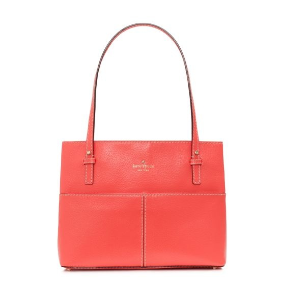 I adore the minimal bags with bold colors from Kate Spade.