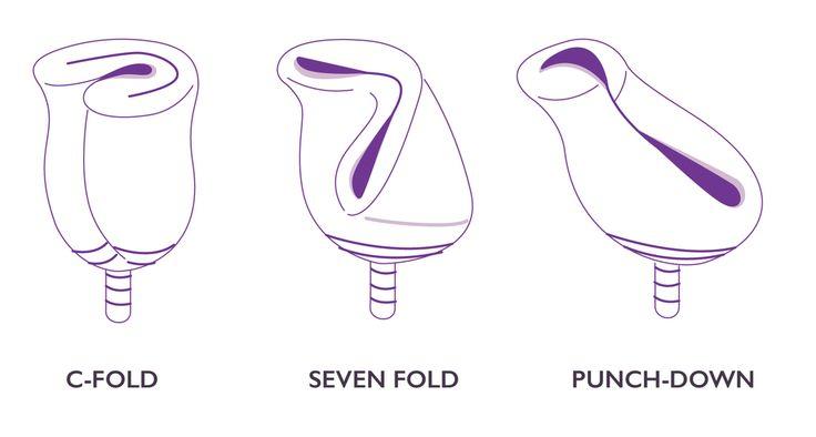 menstrual cup folding methods