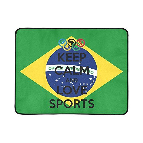 Nicedesigned Custom Beach Mats Rio 2016 Olympic Games Beach Blanket Hiking Travelling Camping Mats 78 x 60 Cloth Table >>> See this great product.