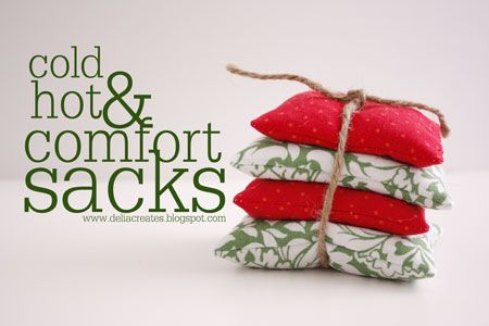 Hot and cold comfort packs (rice packs)