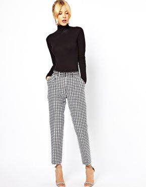 Image 1 - ASOS - Pantalon à carreaux noirs et blancs