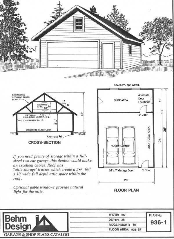 1000 ideas about garage plans on pinterest detached for Garage framing plans