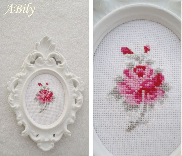 Cross stitches rose...
