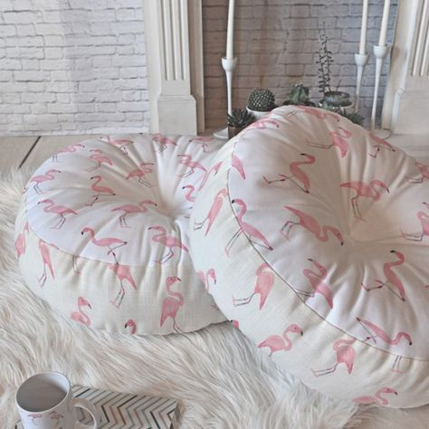 Wonder Forest Fantastic Flamingos Floor Pillow Round