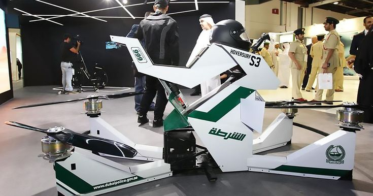 Hoverbike-riding police to patrol the streets of Dubai from 16 feet above the ground | The hoverbikes are being manufactured by the Russians and can double up as unmanned drones
