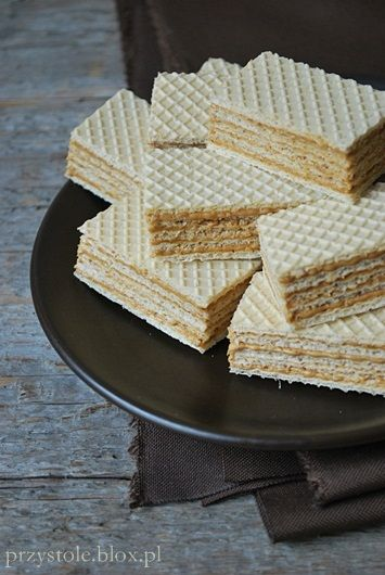 Kawowe wafle, aka 'Andrut' in my house. My mom makes the Best...a touch of rum really brings out the flavor of coco ~ yummmm
