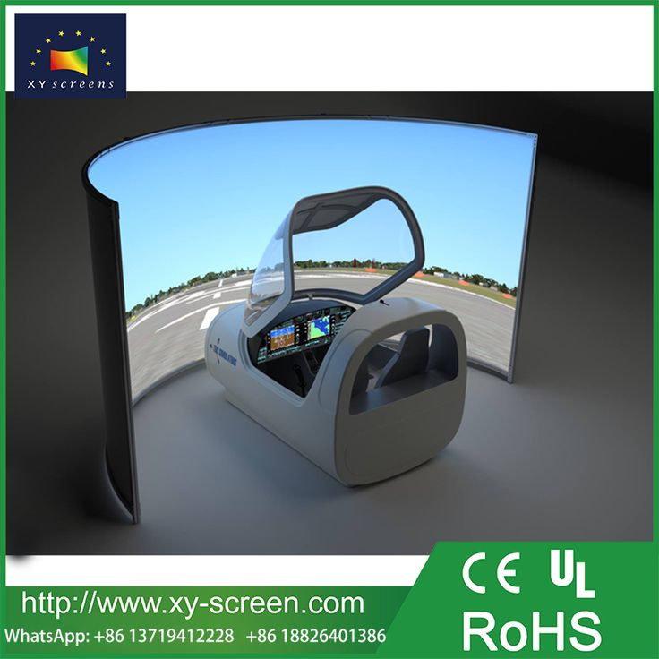 xyscreen large size curved fixed frame projector screen for multi channel simulator flight simulator
