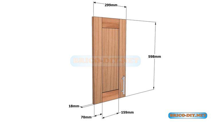 Puerta de madera para mueble de cocina alacena aerea for Puertas de madera para cocina