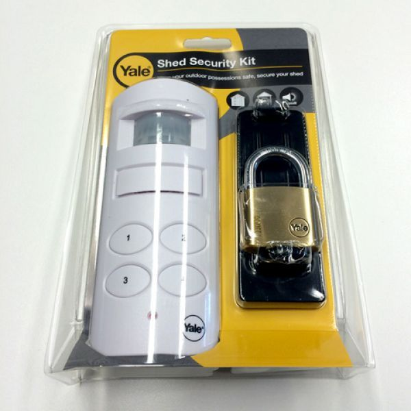 Yale Deluxe Shed Alarm Security Kit - http://www.sheds.co.uk/yale-super-durable-deluxe-shed-alarm-security-kit.html