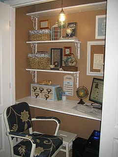 office in closet. closet office it all came together for about 250 in
