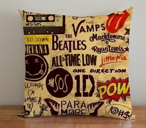 BDP 61 5 seconds of summer one direction - Pillow Case 16x16, 2 side | PodoMoro - Home & Garden on ArtFire