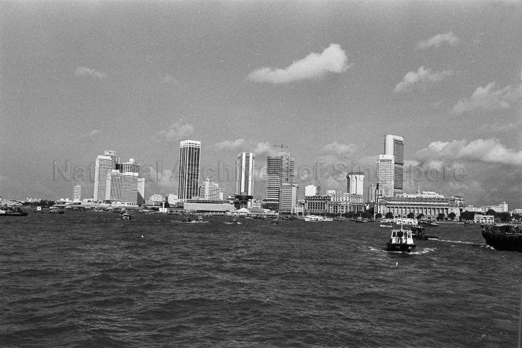 VIEW OF SINGAPORE TAKEN FROM THE PORT OF SINGAPORE AUTHORITY …