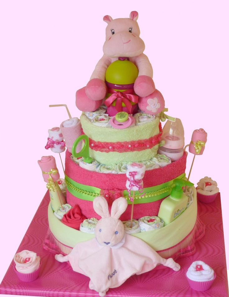 Gateau couches fille