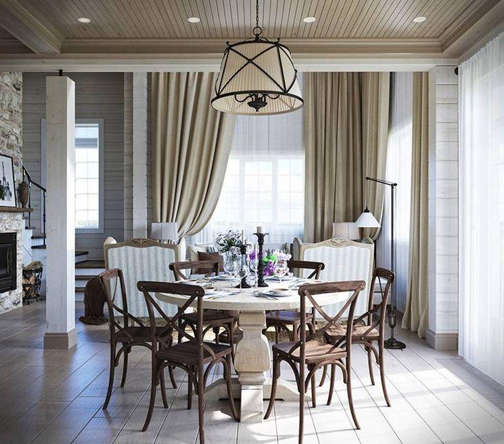 ... Стиль прованс - отличный выбор для загородного дома большой семьи. Он обладает невероятной эстетикой уютного дома, имеющего свою историю и традиции, а также добавляет интерьеру тепла и солнечного света. Все эти отличительные черты удалось передать автору проекта Денису Свириду (Denis Svirid). Размеры дома позволили разместить в коттедже все необходимые помещения. Общие зоны ...