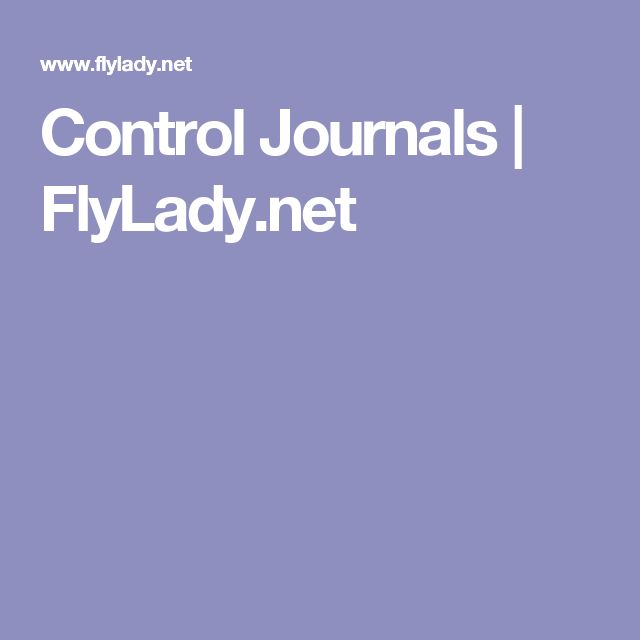 Control Journals   FlyLady.net