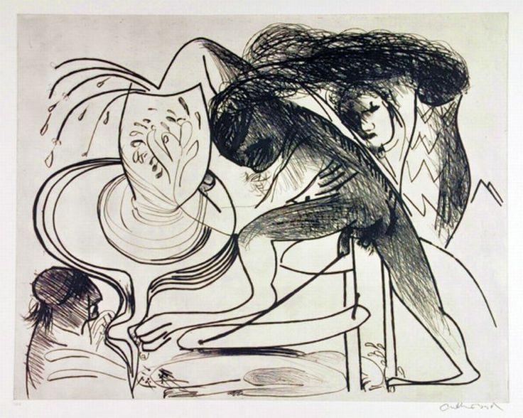Arthur Boyd, 'Potters Wheel & Smoking Chimney' Etching no. 8/68, signed lower right, 54 x 66 cm,
