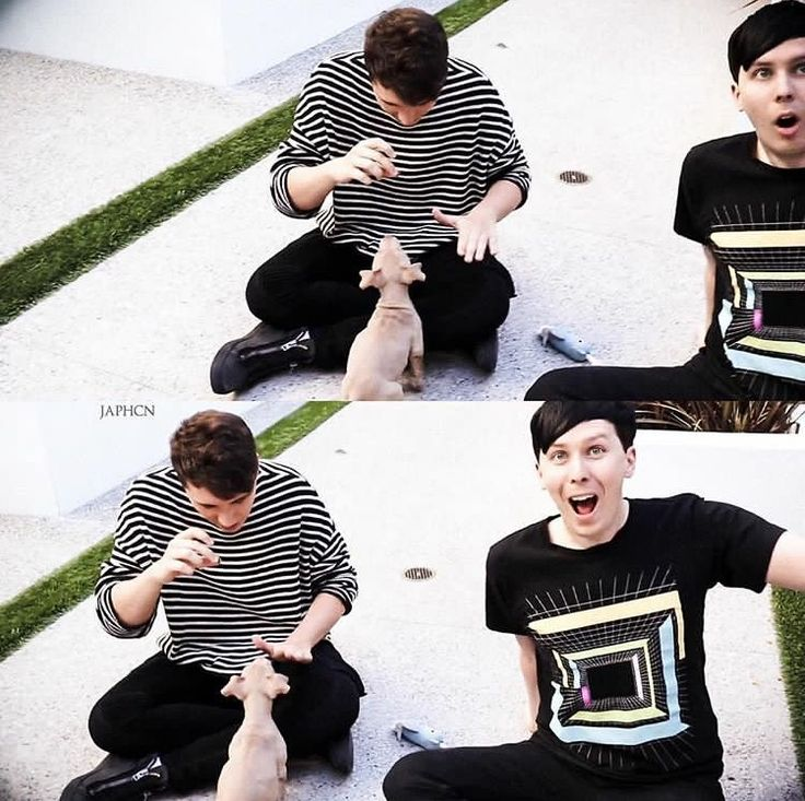 They were so happy PHIL WAS HURTING ME HE NEEDS A DOG