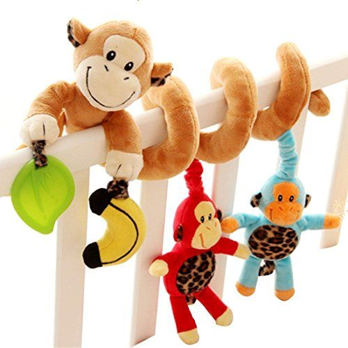 Hot Baby Infant Bed Crib Hanging with Bell Bed Stroller Baby Hanging Playing Toy Monkey -- See this great product.Note:It is affiliate link to Amazon.