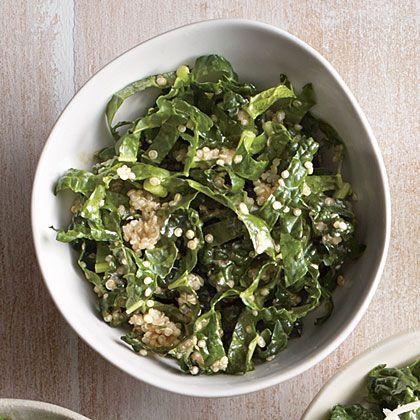 Tahini-Lemon Kale Salad | Recipe | Kale, Kale salads and Quinoa