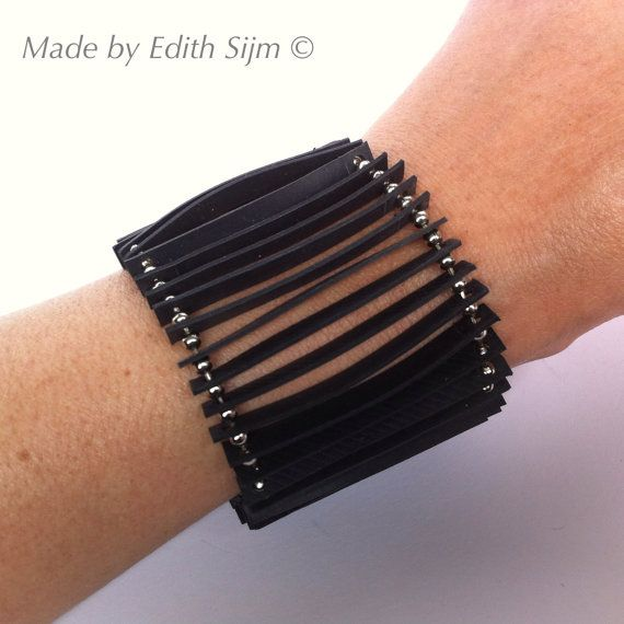 Armband aus Schläuche und Kugelkette hergestellt. von EdithEnDat