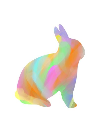 Rabbit Silhouette by Lapinlune