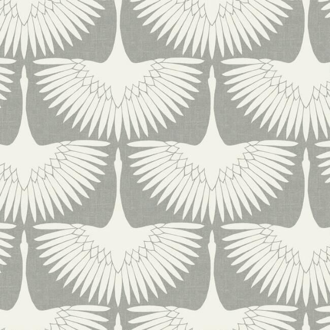 White Cranes Peel And Stick Wallpaper V1 Flock Wallpaper Peel And Stick Wallpaper Removable Wallpaper