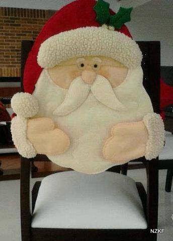 Cubre sillas de Santa Claus, hermoso
