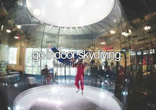 regular skydiving is not going to happen since im scared of hights, but this i could try