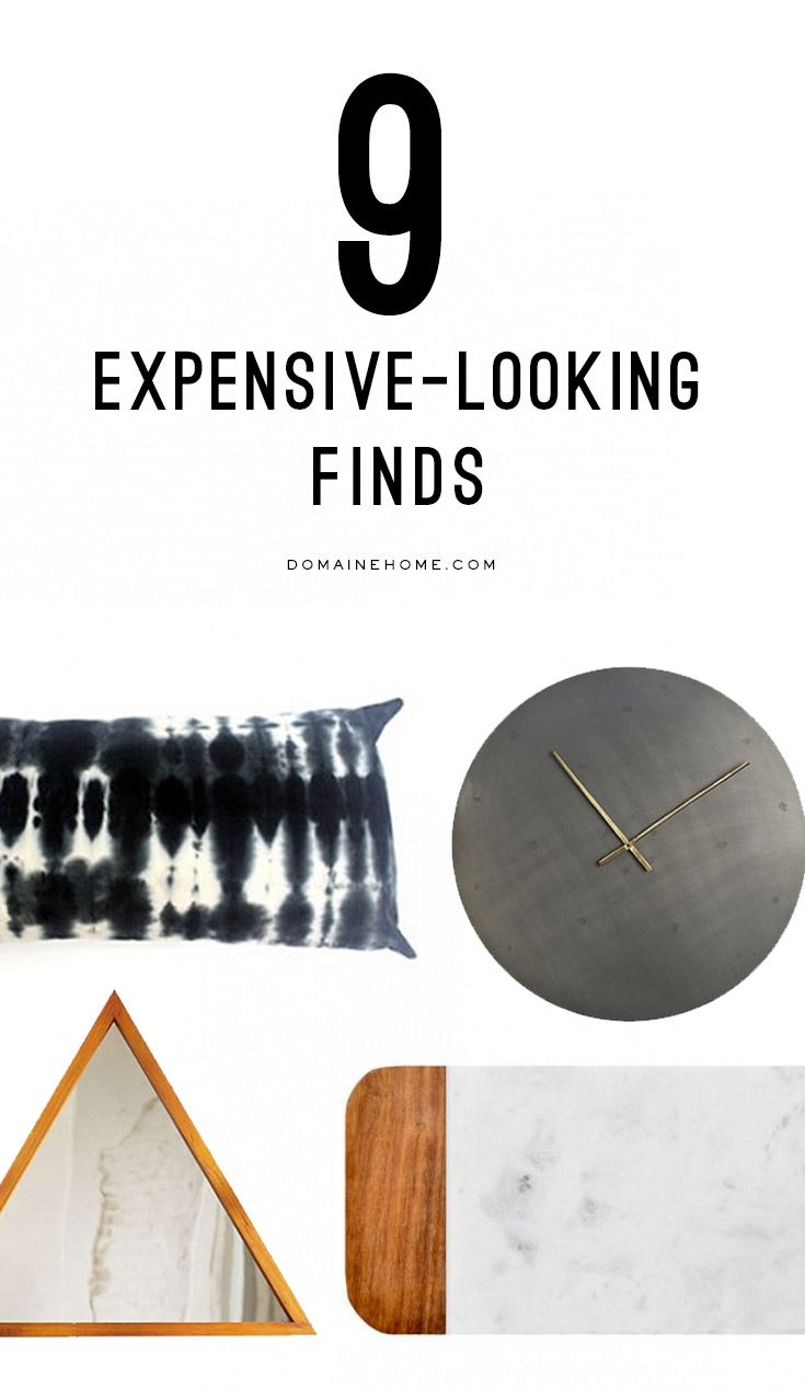 You won't be able to tell where these 9 pieces came from because they look so expensive