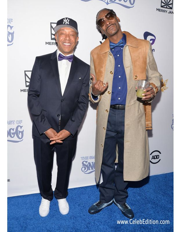 The man of the hour Snoop Dogg and Russell Simmons at the rapper's comedy roast . #roasting #comedy #snoopdogg #russellsimmons #alldefdigital #merryjane #fashion #redcarpet