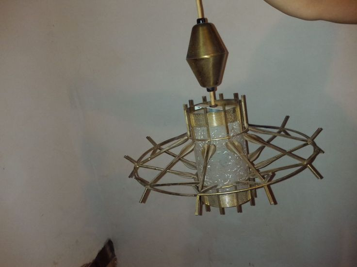 Mid century hanging lamp knoll eames lightolier for Eames lampe