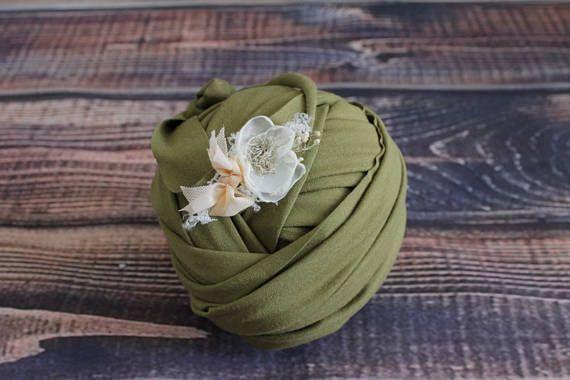 Stretch newborn wrap Newborn wrap set Newborn headband