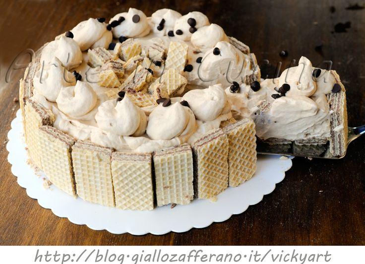 Torta wafer al tiramisu senza cottura dolce veloce vickyart arte in cucina
