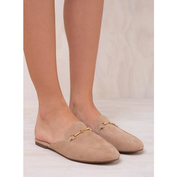 Windsor Smith Suede Dree Flats (€67) ❤ liked on Polyvore featuring shoes, flats, nougat, windsor smith, flat shoes, windsor smith shoes, flat pumps and suede leather shoes