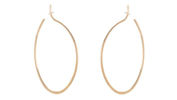 Kris Nations Simple Hoop Earrings