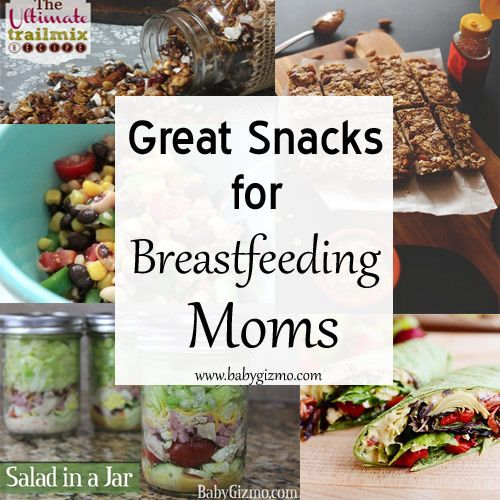 Stay full and energized all day with these great, healthy snacks for breastfeeding moms!
