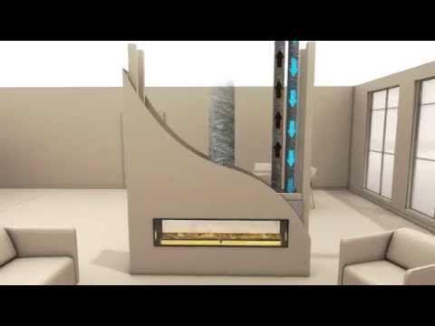 Escea DS1400 - Frameless Wide High Output Heating Gas Log Fire