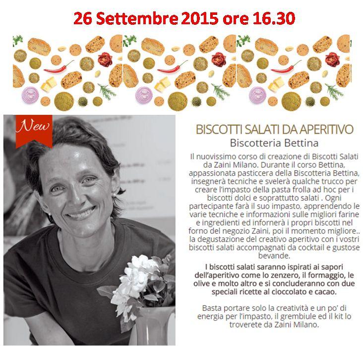 Bettina torna a trovarci da Zaini Milano per preparare i biscotti salati da aperitivo. un corso fresco e goloso.. i drink sono della speciale lista Zaini Milano