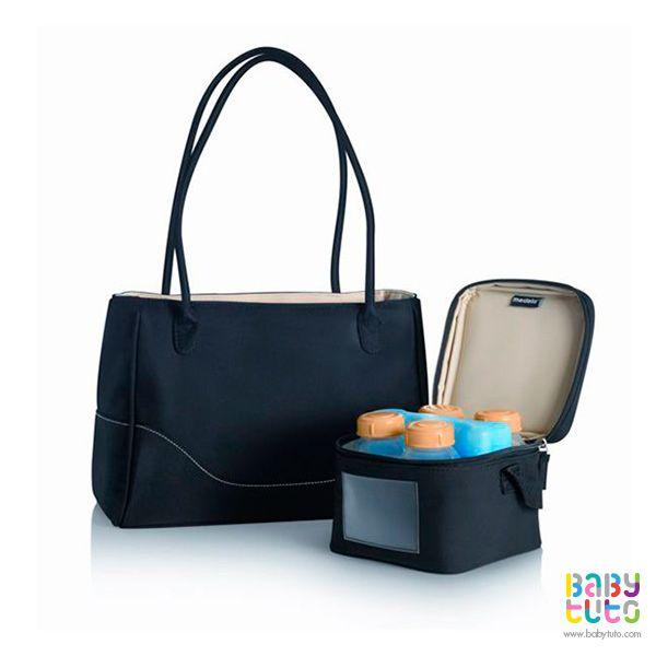 Bolso y cooler para transportar leche materna CityStyle, $44.000 (precio referencial). Marca Medela: http://bbt.to/1BuJGHZ