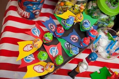 Super hero lollie pops