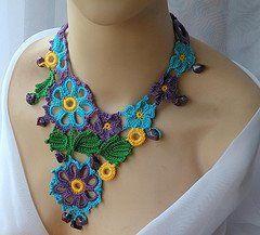 Artes & Manhas: Joias em crochet...