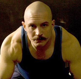 "British actor Tom Hardy in his portrayal of Charles Bronson in the film ""Bronson,"" a biopic about the eponymous career felon who is England's most famous prisoner."