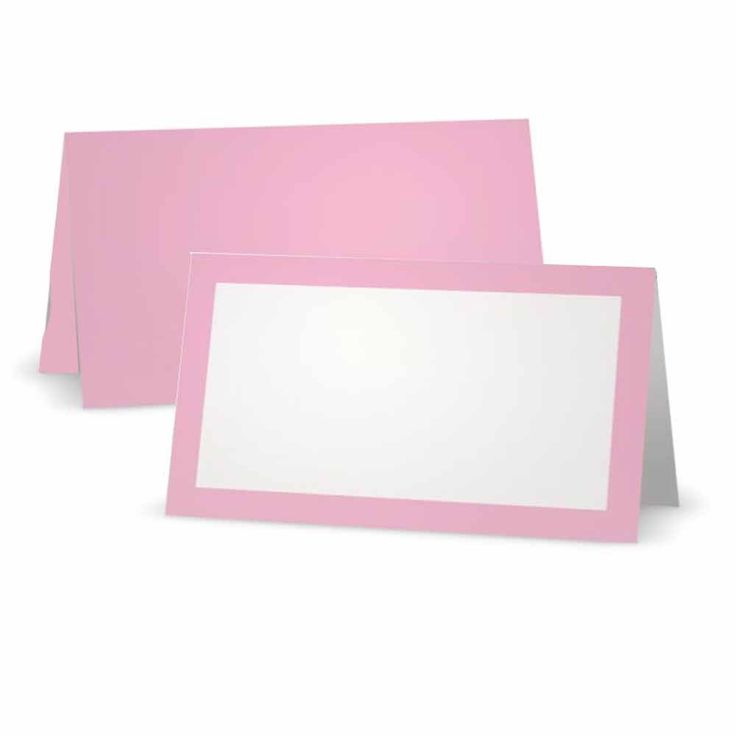 Light Pink Place Cards - Tent Style - White Blank Front with Border - Placement Table Name Seating Stationery Party Supplies for any Occasion or Event - Dinner Food Display or Product Tag Label Set * Find out more about the great product at the image link.
