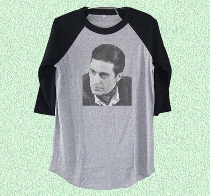 Al Pachino t shirt actor print Baseball t shirt Grey raglan tshirt S M L XL XXL  #unbranded #CrewNeck