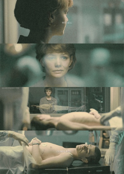 """never let me go - interesting book, so strangely sad and creepy. """"we all complete"""""""