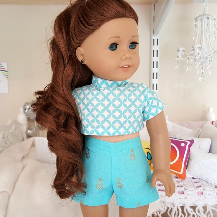 18 inch doll crop top and shorts by SewCuteForever on Etsy https://www.etsy.com/listing/467699291/18-inch-doll-crop-top-and-shorts
