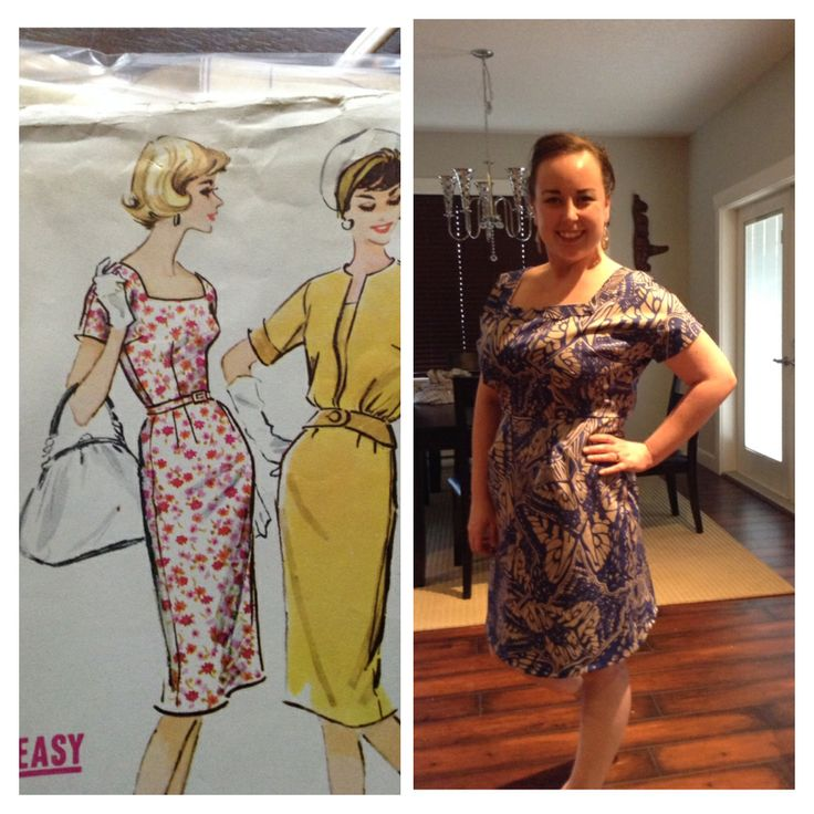 I recently bought a box of patterns from an online garage sale to my delight I found about 10 vintage patterns from the 50's. This is my first attempt :). It's a stretch cotton on royal blue with grey butterfly's . I shortened the hem by about a half foot to a foot, as well as adjusted the the sleeves. It is amazingly comfortable and I love it. #12thletterapparel&design