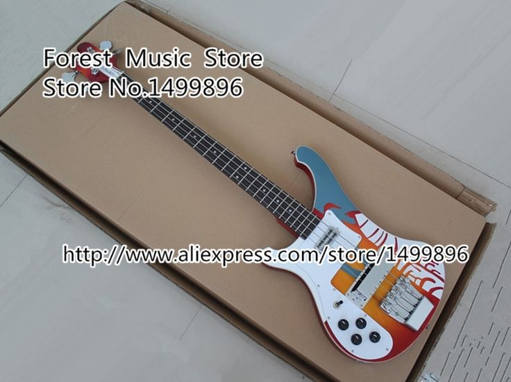 367.65$  Watch here - http://alinm9.worldwells.pw/go.php?t=32229682659 - Custom Shop Multicolour Top Electric Left Handed Bass Guitar 4 String Rick R4003 Ebony Fretboard Bass Guitar China Free Shipping