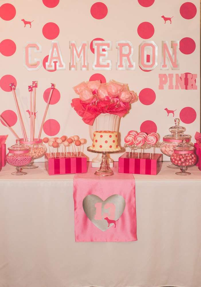 Victoria's Secret Pink Birthday Party Ideas | Photo 2 of 11 | Catch My Party